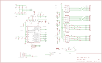 Schematic sheet 1, showing microcontroller, power, and real-time clock